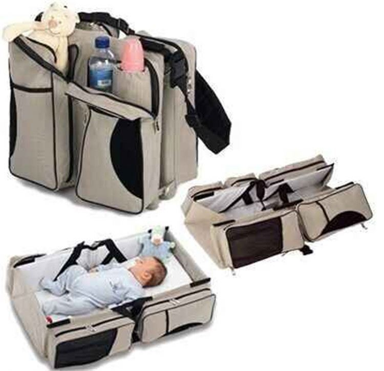 Osgoodway China suppliers New Hot-sale 3-in-1 Baby Travel Bassinet Diaper Bag Portable Changing Station