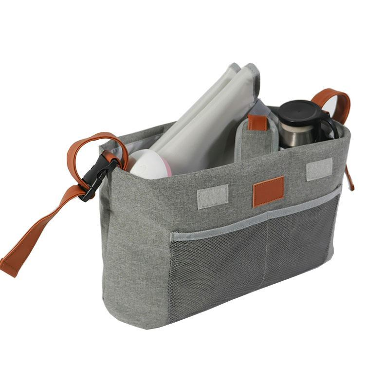 Osgoodway Outdoor Hanging Travel Baby Stroller Organizer Bag With Tissue Pocket and Cup Holders