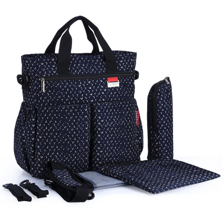 product-Osgoodway2 Multifunctional Mom Baby Diaper Bag Large Capacity Mummy Bags Baby Changing Bags--1