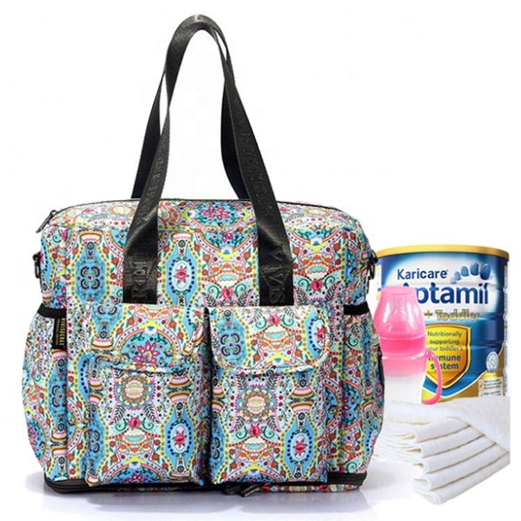 Custom print unique changing nappy diaper bags colorful Mommy Handbag Diaper Bags