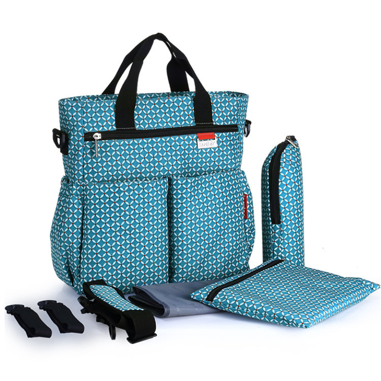 Osgoodway2 Tote Mummy Baby Diaper Tote Bag Backpack With Changing Pad and Stroller Straps