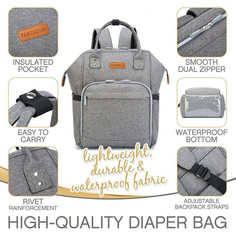 product-Osgoodway Mummy Diaper Bag Backpack with Changing Pad Custom Baby Nappy Bag Backpack-Osgoodw-1