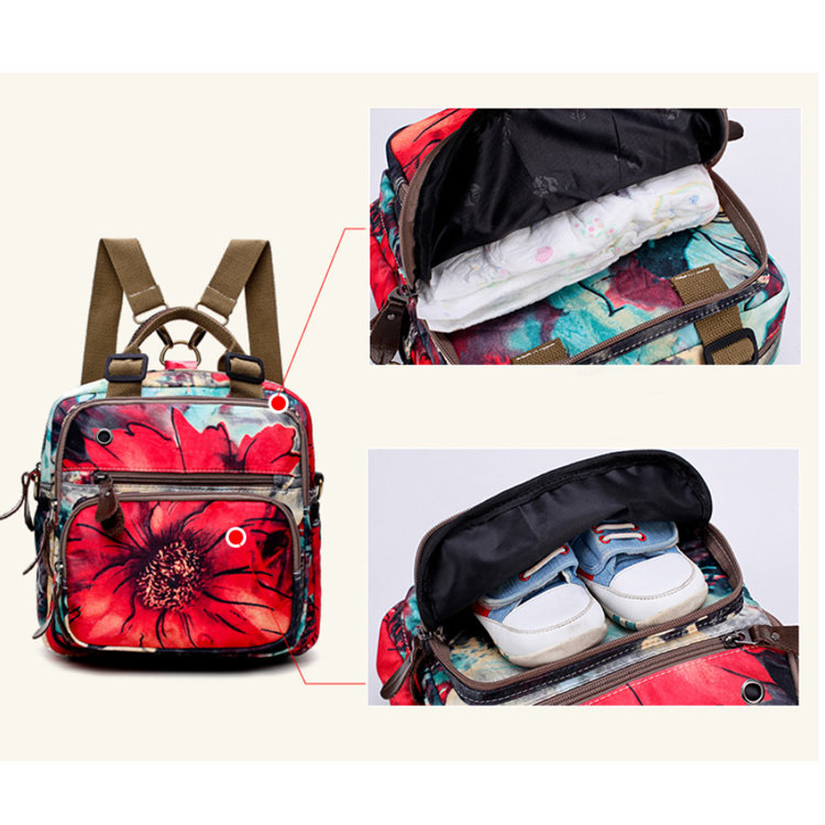 product-Osgoodway-Osgoodway2 Newest 2019 Floral Baby Bag Multifunctional Diaper Bag Backpack for Bab