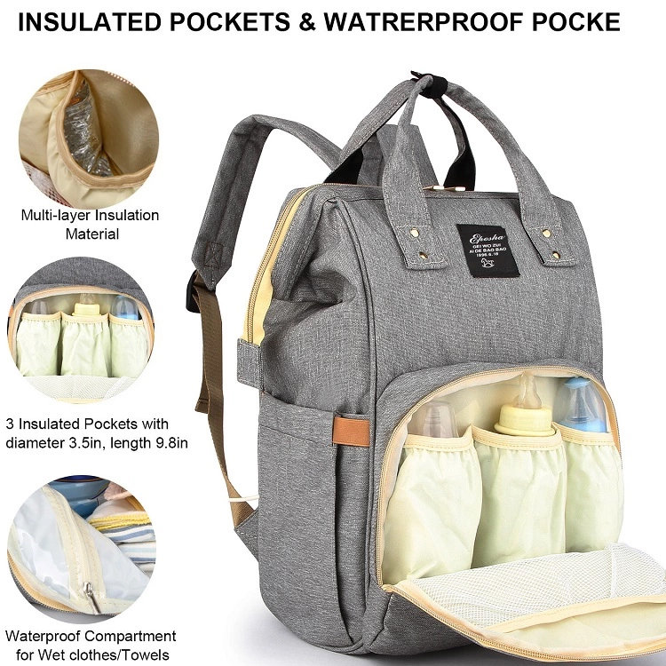 product-Osgoodway-Osgoodway2 Multi Color Diaper Bag Baby Care Backpack for Mom Mummy Bag Waterproof