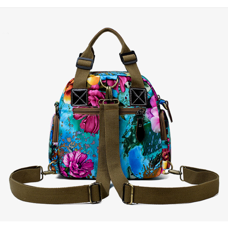 product-Osgoodway-Osgoodway2 Waterproof Nylon Designer Floral Women Handbags Baby Diaper Bag Backpac