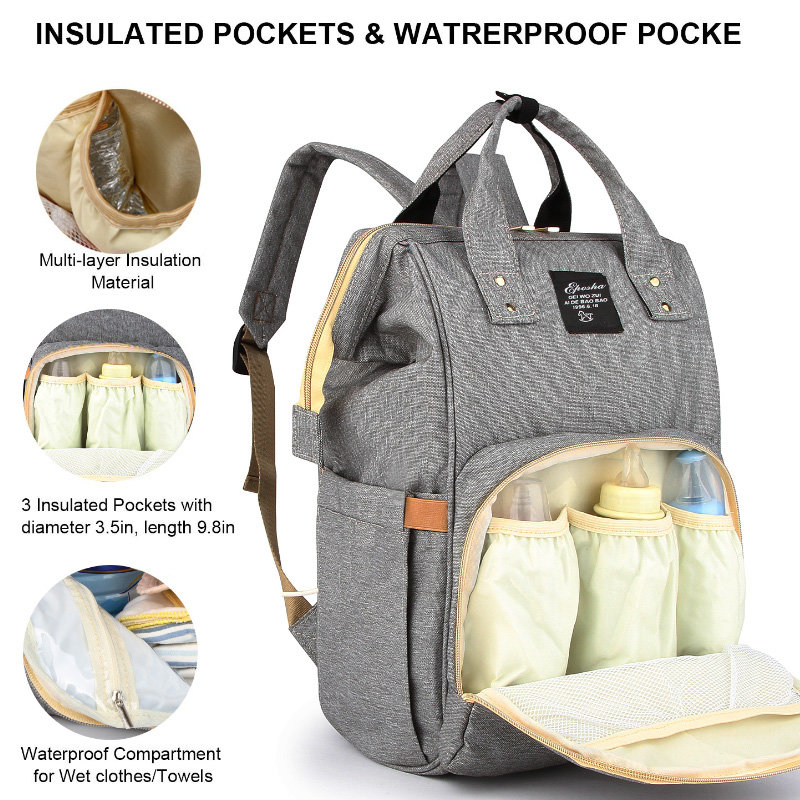 product-Osgoodway2 Hot Selling Waterproof Travel Diaper Bags Backpack Private Label Baby Nappy Diape-1