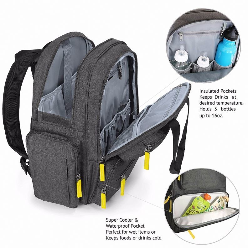 product-Osgoodway Multifunctional Mummy Baby Backpack Baby Diaper Bag Backpack with Changing Pad-Osg-1