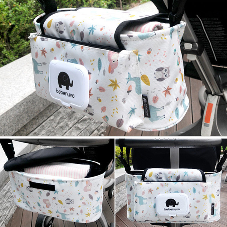 product-Osgoodway-Osgoodway2 Outdoor Canvas Stroller Bag Baby Stroller Organizer Hanging Bag With Ti