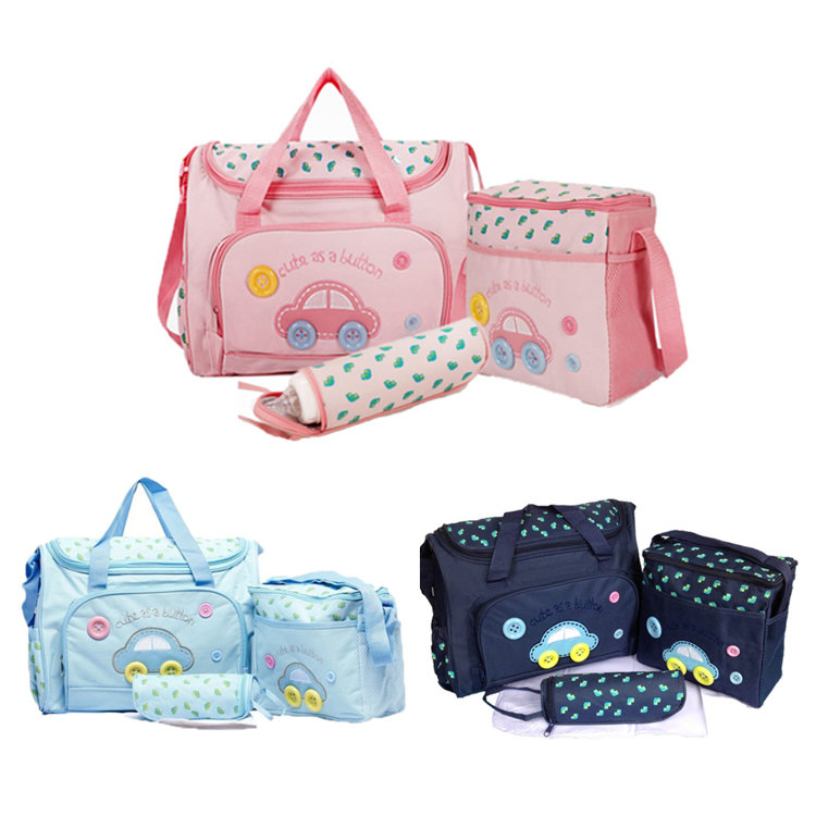 product-Osgoodway2 China Wholesale 600D Polyester 4pcsset Mummy Bag Baby Diaper Bag Handbag Set-Osgo-1