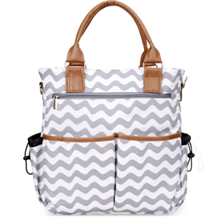 product-Osgoodway OEM Microfiber Material Tote Baby Diaper Shoulder Bags Durable Mummy Mother Baby N-1