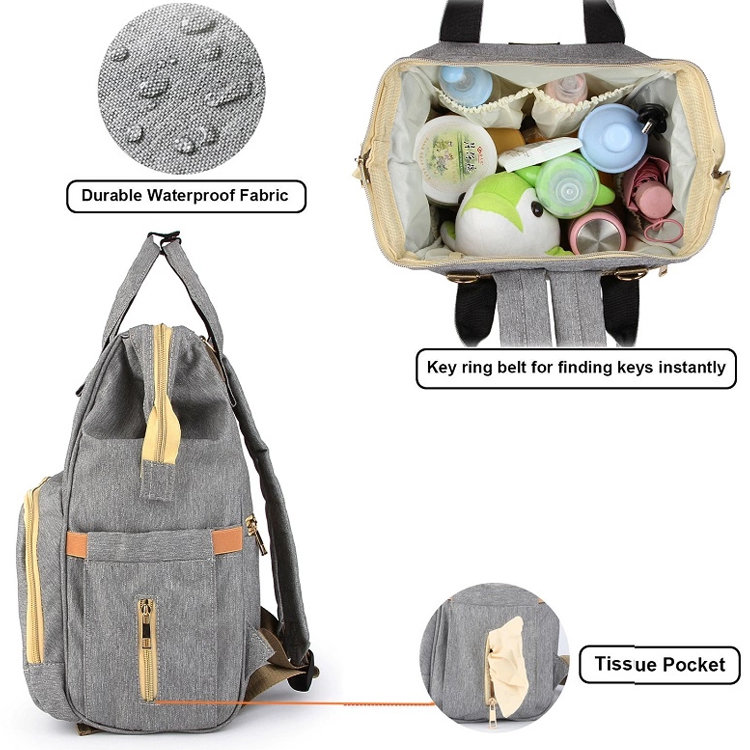 product-Osgoodway2 Multi Color Diaper Bag Baby Care Backpack for Mom Mummy Bag Waterproof Baby Pregn-1