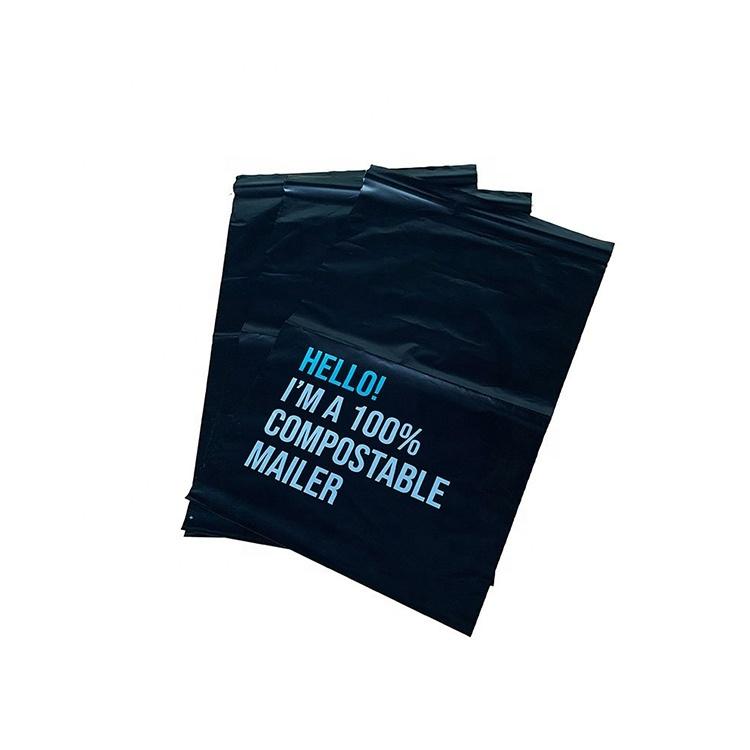 PLA biodegradable custom logo bags eco friendly mailing bags