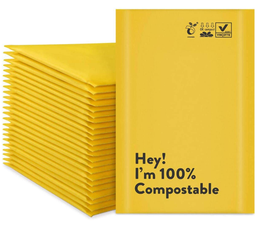 PLA 100% eco custom delivery bag custom biodegradable mailing bags custom bubble mailer envelopes logp printing