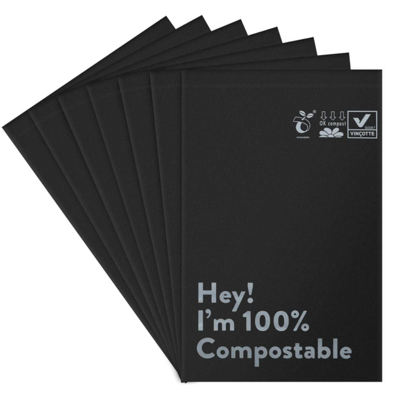 12x15.5 inches Biodegradable Shipping Bags,50 Compostable PLA Mailers with Eco Friendly Packaging Envelopes Supplies Mailing Bag