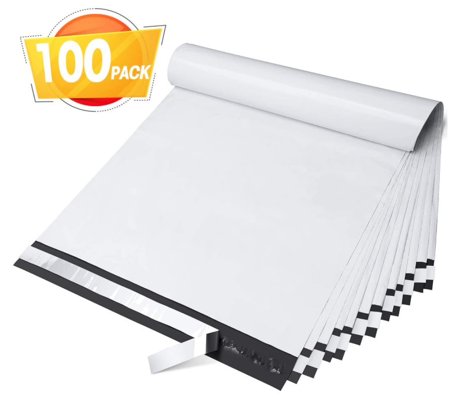 PLA Mailers Envelopes Mailing Bags White Shipping Bag with Self Adhesive,Waterproof and Tear-Proof Postal Bags