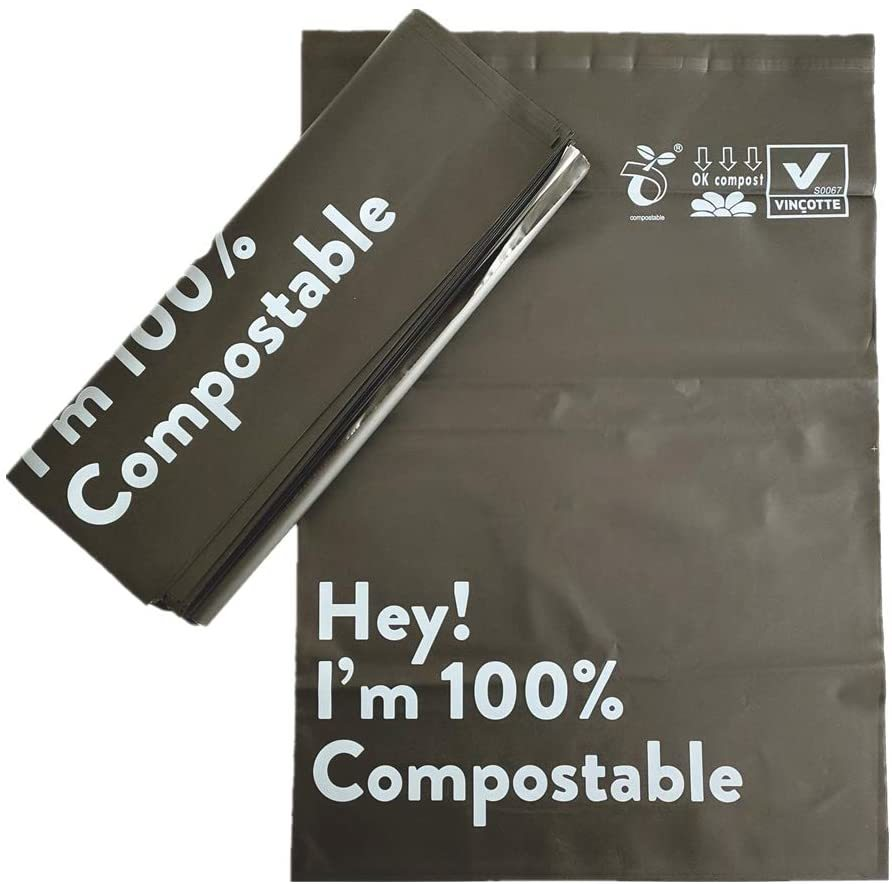 Eco Friendly Packaging Envelopes 50 Pack Poly Mailers Biodegradable Shipping Delivery Bags, Compostable Mailing Bags