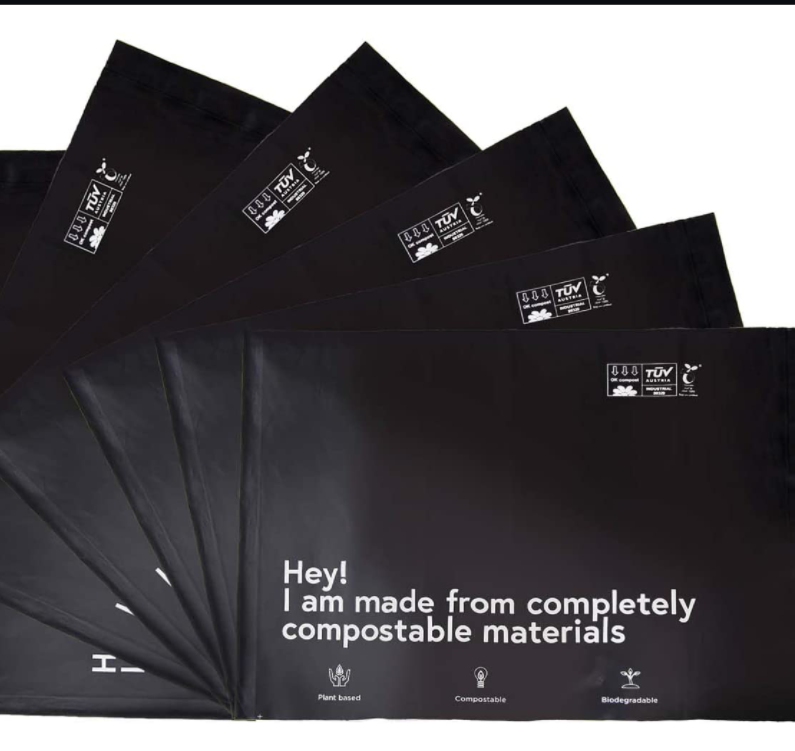 Compostable Poly Mailers Shipping Bags Supplies Mailing Bags christmas wrapping self seal bags