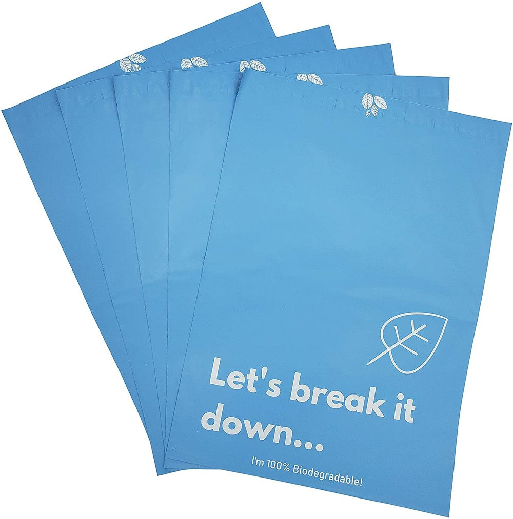 Custom Printed 100% Biodegradable Mailer Compostable Mailing Bags Shipping Packaging Mailing Bags Biodegradbable
