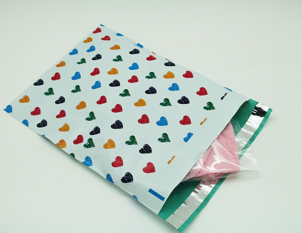 cornstarch base biodegradable custom printed Eco Friendly Compostable Shipping Packaging Mailing Bags