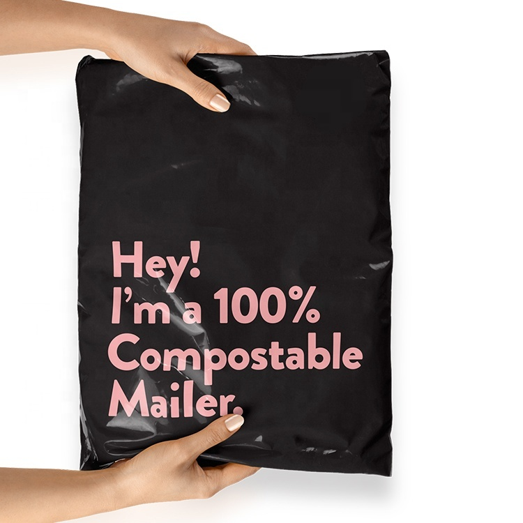 Custom Logo Printed Eco-friendly Compostable Biodegradable Shipping Packaging Mailing Bags courier bags Mailer Bag
