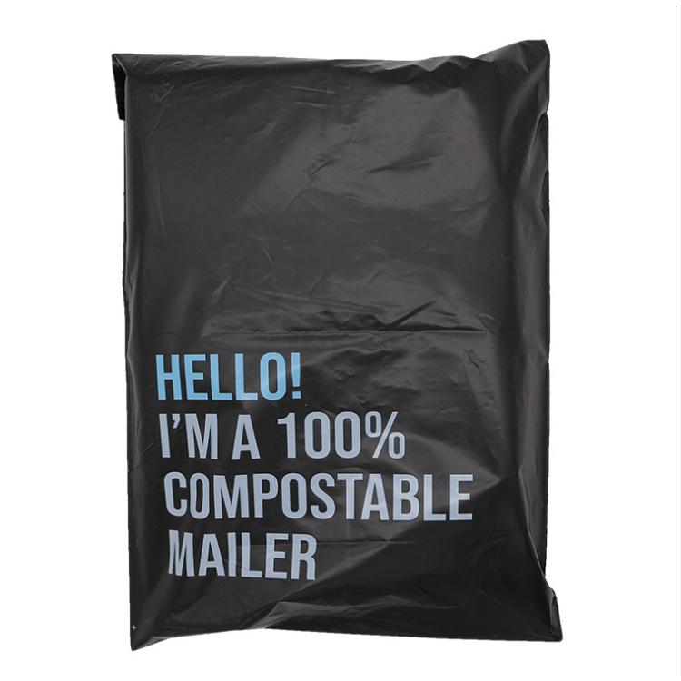 cornstarch made biodegradable custom poly mailing shipping bag envelopes