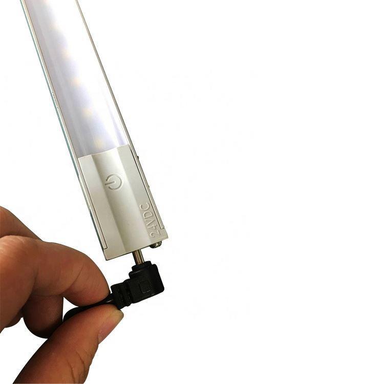 2700K DC12V DC24V High Brightness Built-In Magnetic Cabinet Panel Battery Powered LED Light