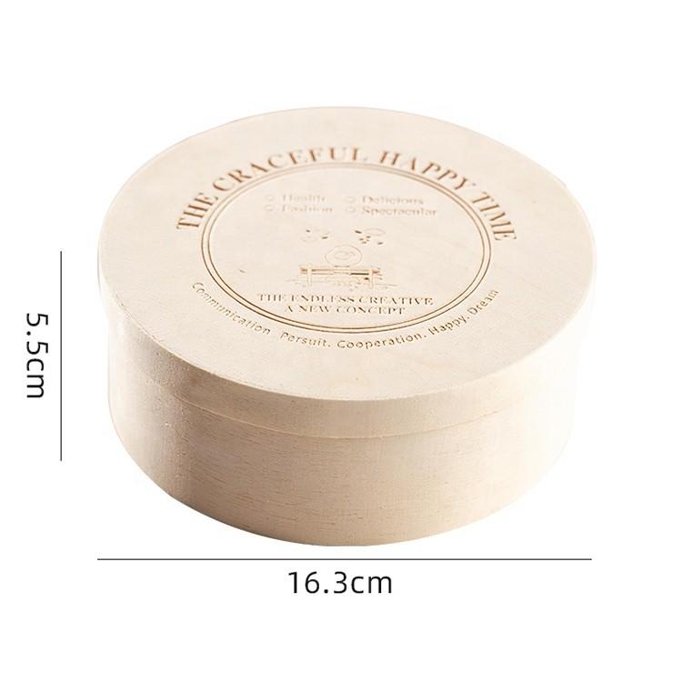 vitalucks custom wooden round salad lunch bento box food container packaging cake veneer cheese box