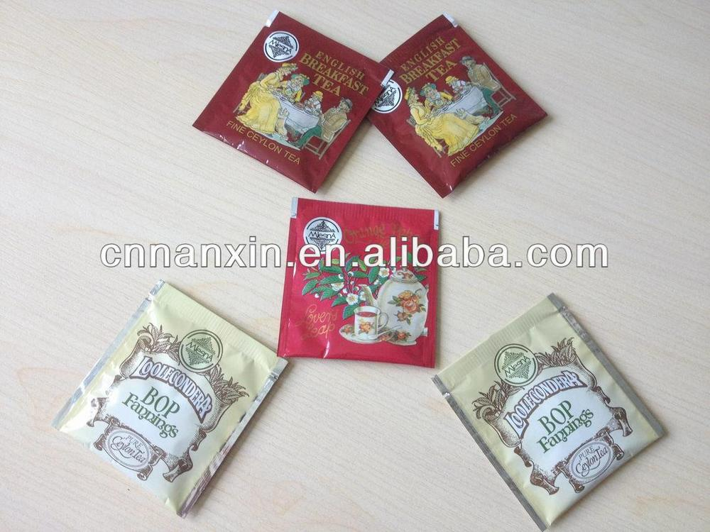 tea sachet printed bag food packaging design