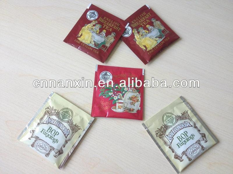 tea sachet printed bag food packaging design