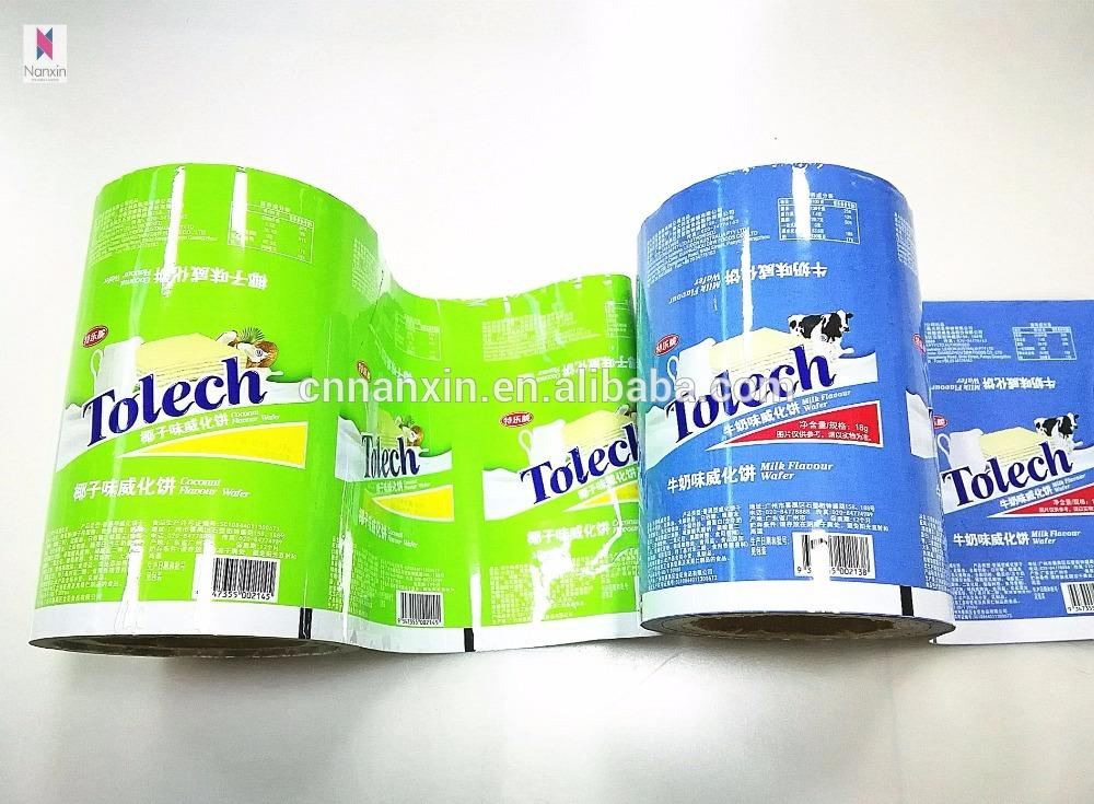 food laminated packaging film aluminium foil film for snack food