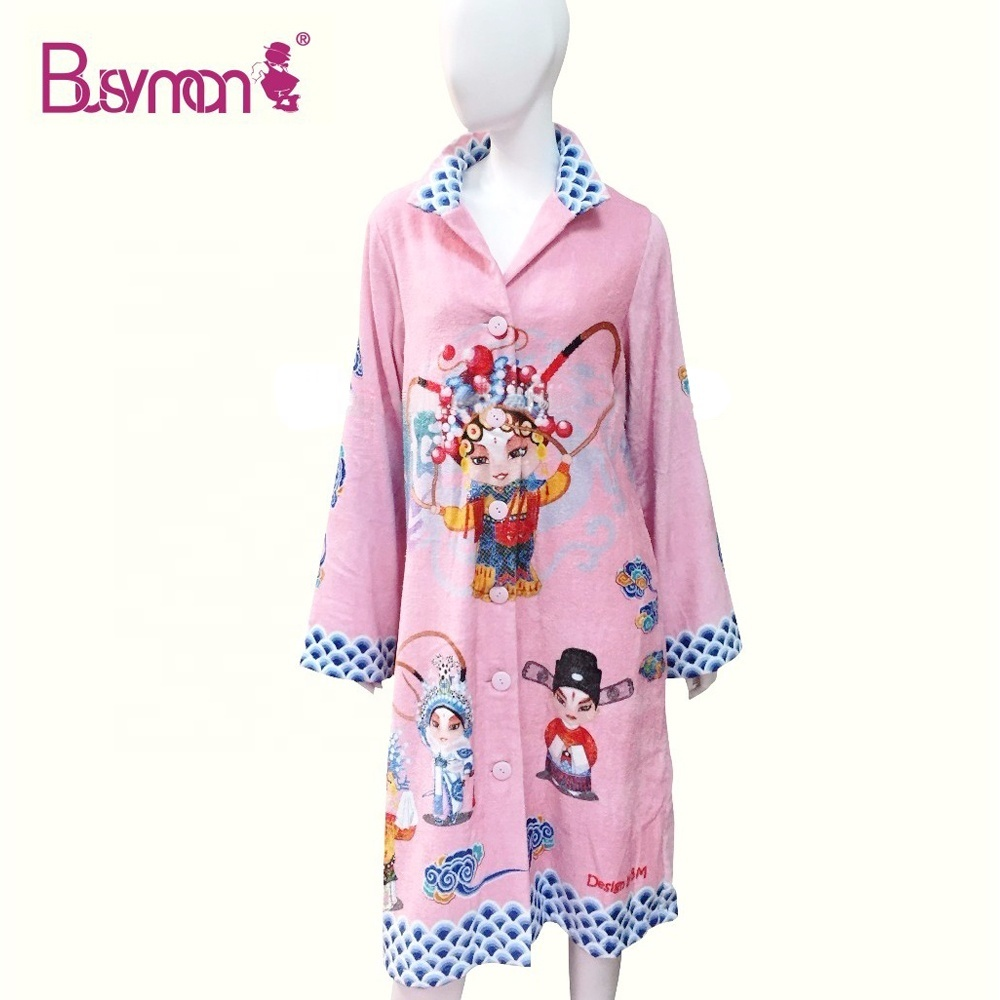 Factory customized wholesale Pure cotton quick drying Women bathrobe