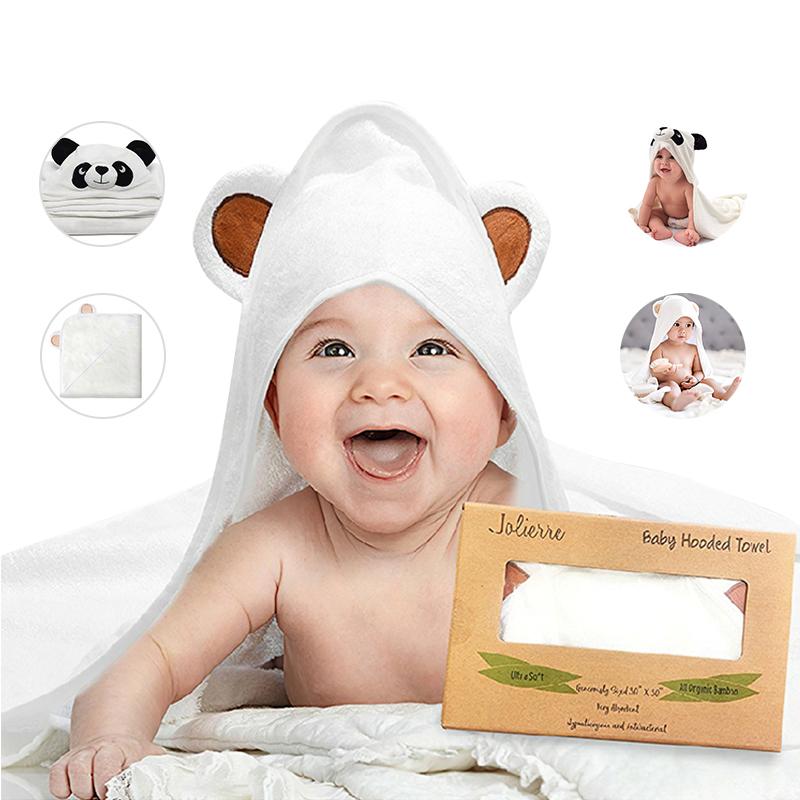 Organic Bamboo Fiber Baby HoodedBath Towel Bear Ears Baby Gift