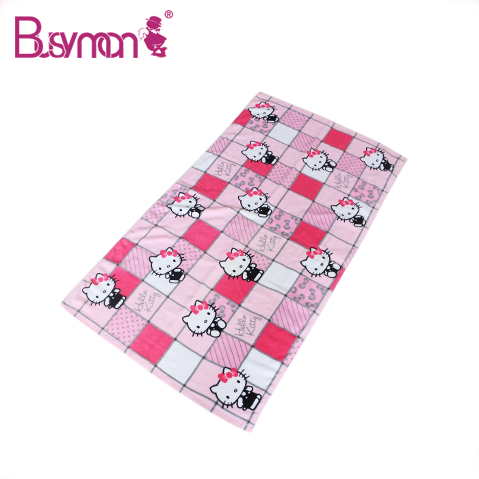High Quality Luxury Vivid Reactivie Printing Cotton Towel Lovely Bath Towel