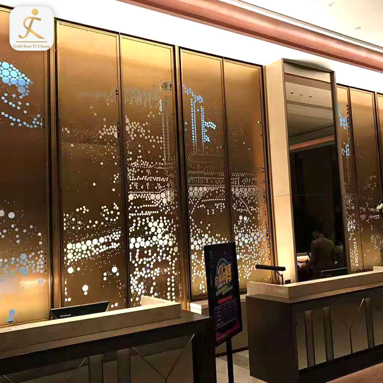 Custom Chinese styleliving room metalwall covering stainless steel wall panel interior decoration
