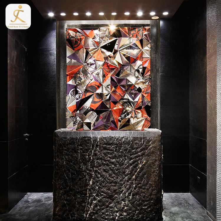 indoor metal wall panels interior stainless steel decorative wallboard panels luxury hotel inn wall decoration panel