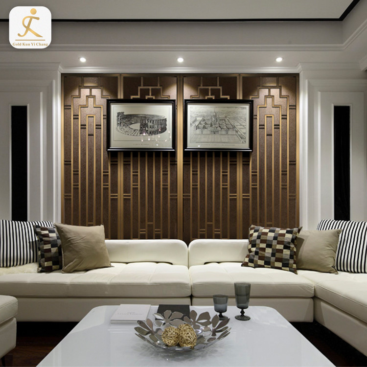 modern hotel stainless steel textured 3d feature wall panel board living room interior metal background wall decorative panel