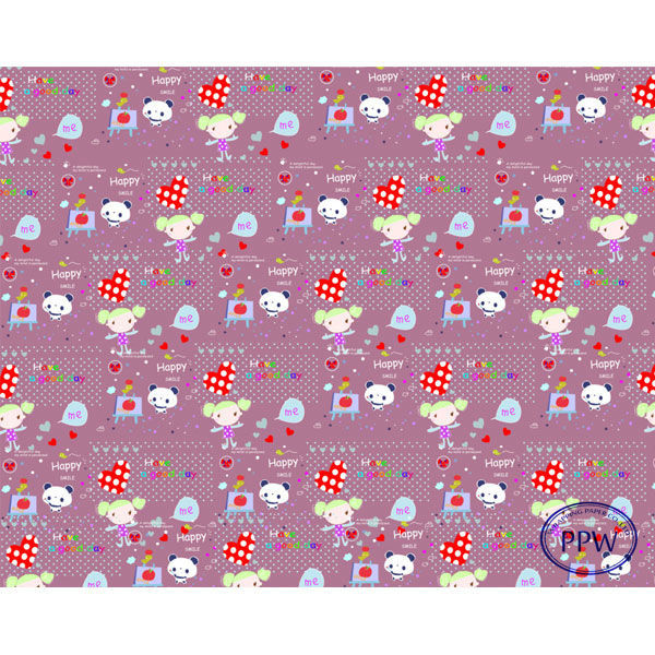 Purple Background Cute Gift Wrapping Paper