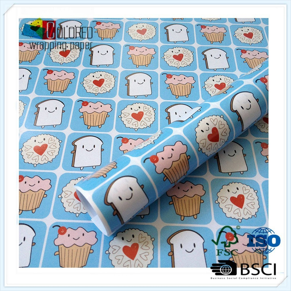 2015 Korean style Fancy Wrapping Paper Dimensions can customed