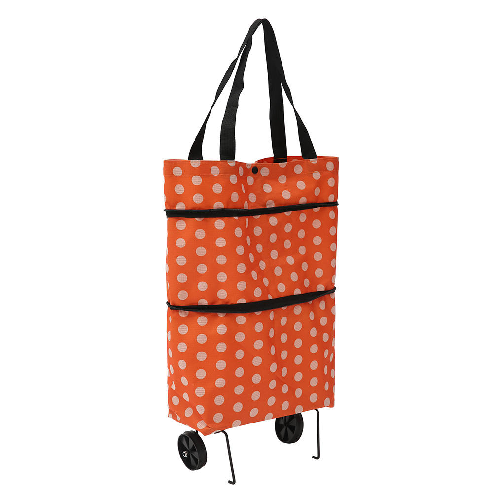 2020 Folding Shopping Pull Cart Trolley With Wheels Foldable Shopping Bag Reusable Grocery Bag Food Organizer Vegetables Bag