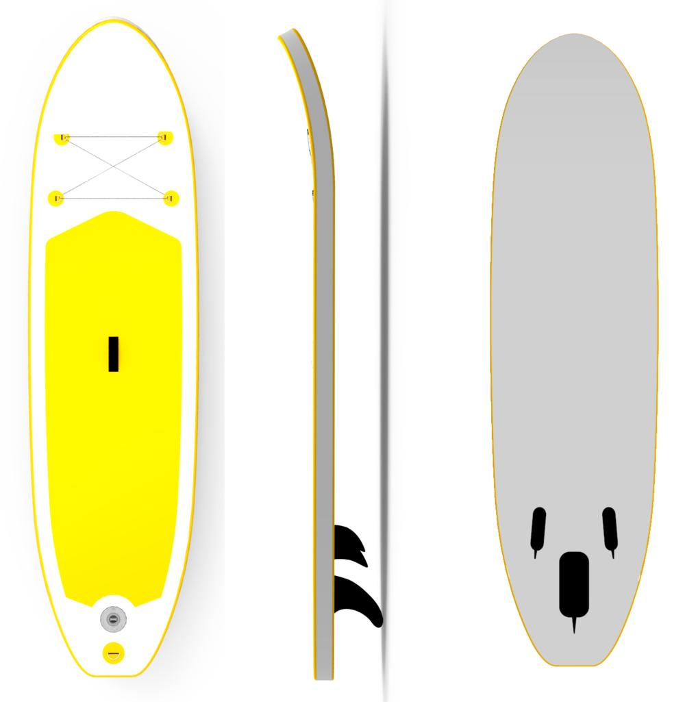 Light Weight Griffin Fin Inflatable Surfboard PaddleWave Board SUP