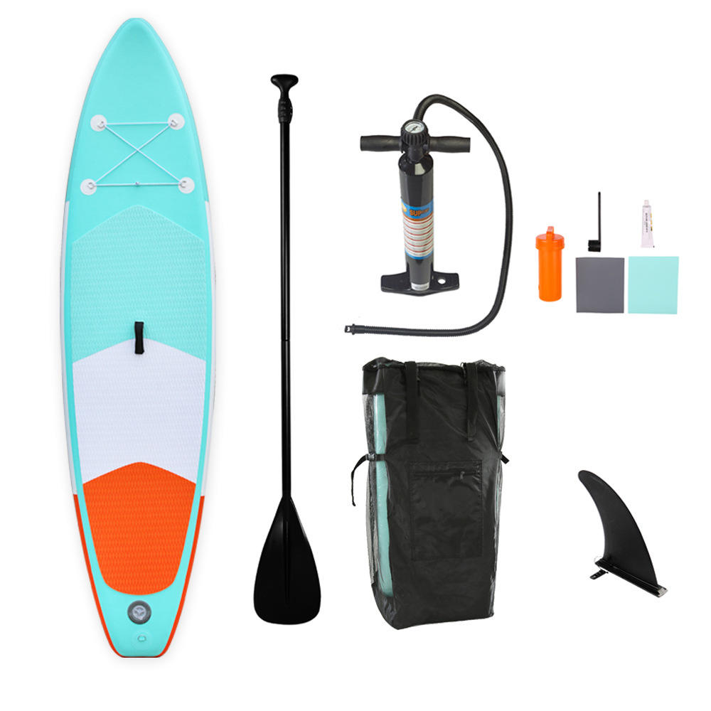 10ft Inflatable Stand Up Paddle Board W Free Premium SUP Accessories & Backpack