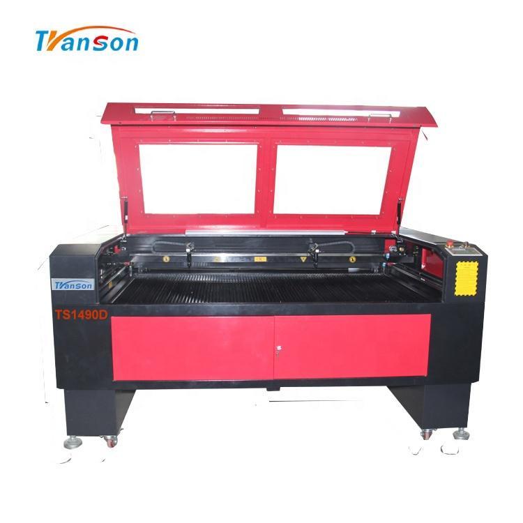 High speed MDF Acrylic boards Cutting 1490 Double heads laser cutting machine eastern