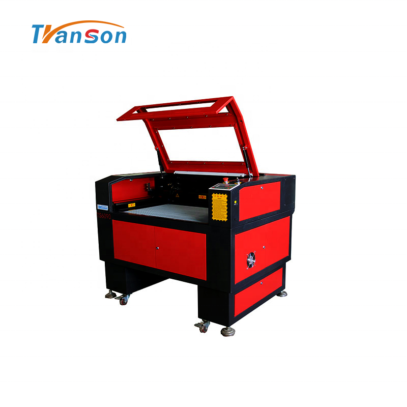 80W CO2 Laser Cutting Engraving Machine TS6090 with Reci W1 Tubefor non-metal wood paper acrylic leather plastic stone glass