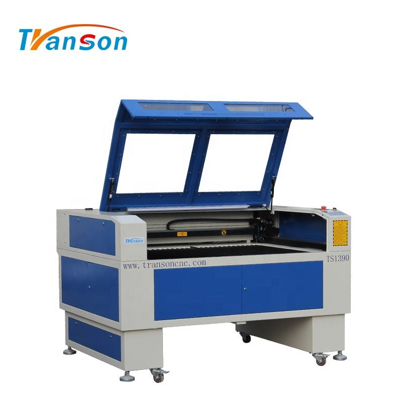 100W Co2 Laser Cutting Engraving Machine TS1390 with EFR F4 Tube used forwood paper acrylic leather plastic stone glass