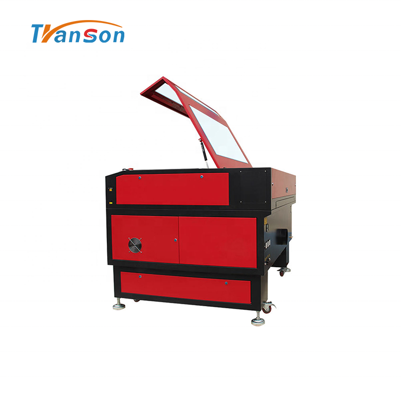 130W CO2 Laser Cutting Engraving Machine TS1290 with EFR F6 Tube used for paper acrylic leather plastic stone glass