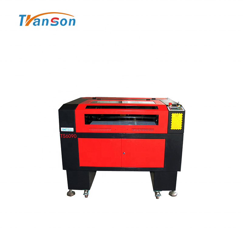 100W CO2 Laser Cutting Engraving Machine TS6090 with Reci W4 Tubefor non-metal wood paper acrylic leather plastic stone glass