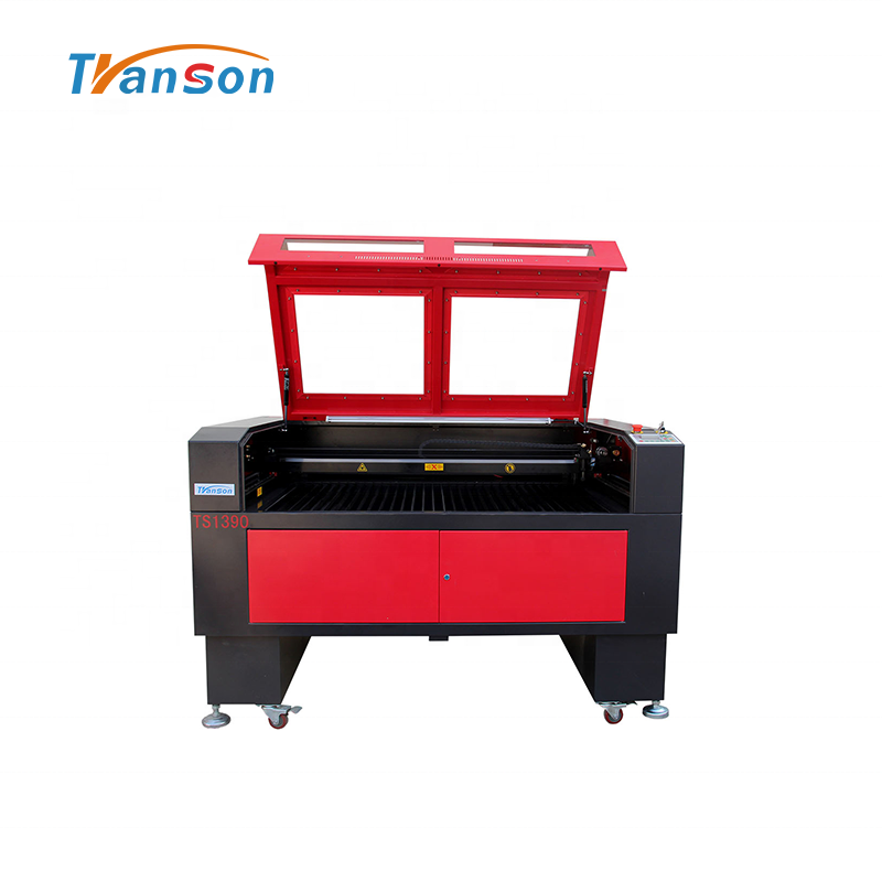 100W Co2 Laser Cutting Engraving Machine TS1390 with Reci W4 Tube used forwood paper acrylic leather plastic stone glass