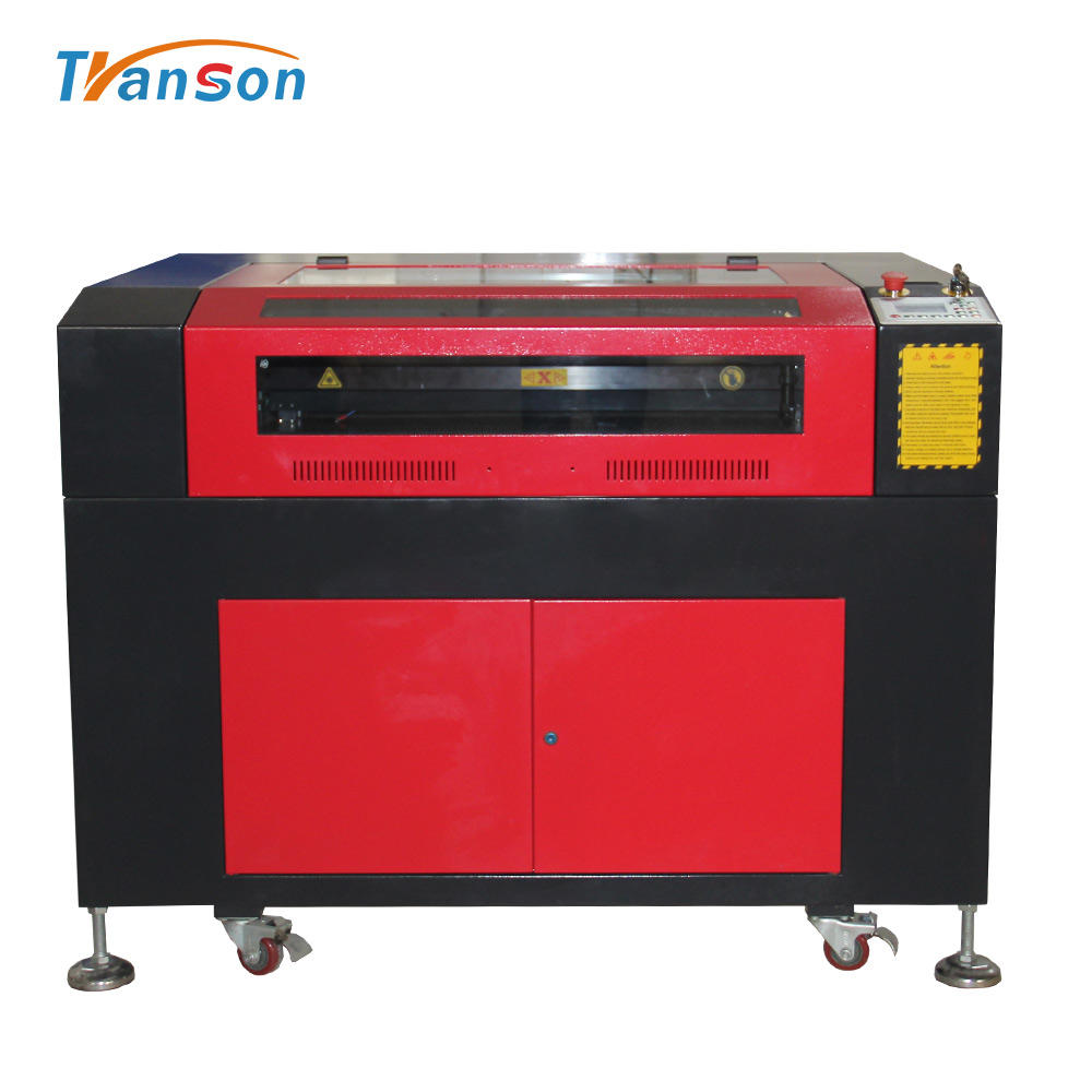 Live Focus On Nonmetal TS6090 Carpet Laser Cutting Machine CO2 Engraving