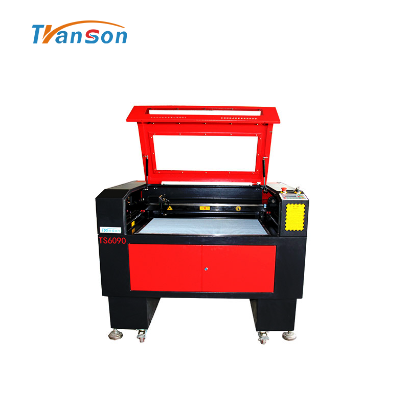130W CO2 Laser Cutting Engraving Machine TS6090 with Reci W6 Tubefor non-metal wood paper acrylic leather plastic stone glass