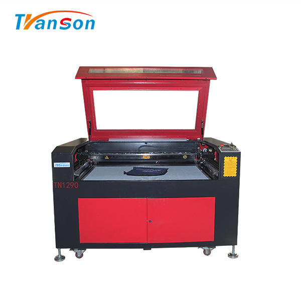 100W CO2 Laser Cutting Engraving Machine TN1290 with Reci W4 Tube used forwood paper acrylic leather plastic stone glass